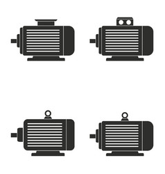 electric motor icon set vector image
