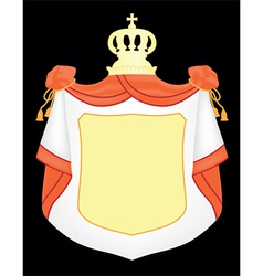 empty coat of arms vector image