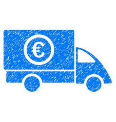 Euro delivery grunge icon vector