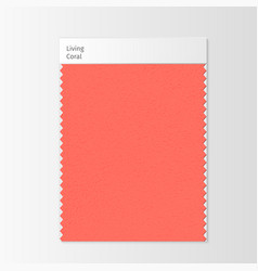 fabric sample textile swatch template vector image