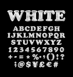 Full english alphabet of white inflatable vector