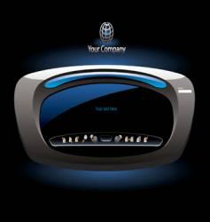futuristic website interface vector image