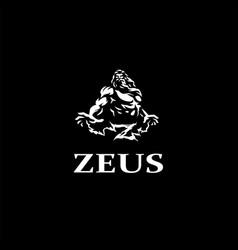 Greek god zeus vector