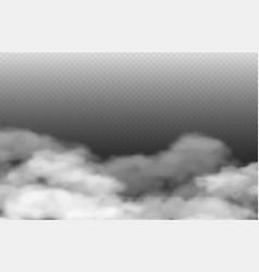Grey fog smoke or mist isolated on vector