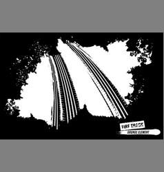 Grunge tire background vector