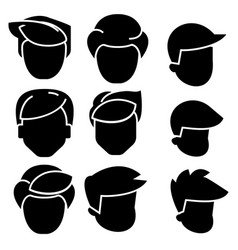 Hairs men icon black sign on vector