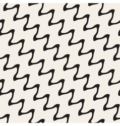 Hand Drawn ZigZag Diagonal Wavy Lines vector