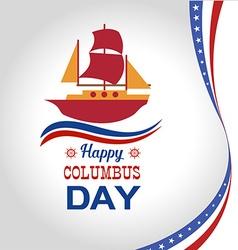 Happy Columbus Day vector