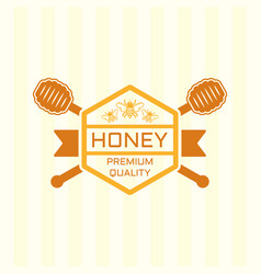 honey premium product colored emblem vector image