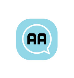 initial letter logo aa template design vector image