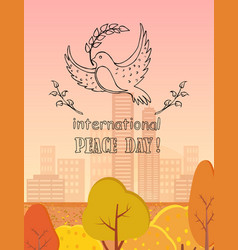 international peace day logo vector image