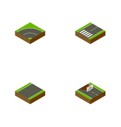 Isometric way set of repairs footpassenger vector