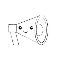 kawaii megaphone loudspeaker marketing cartoon vector image