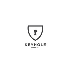keyhole and shield graphic design template vector image