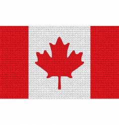 knitted Canadian flag vector image