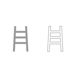 ladder grey set icon vector image