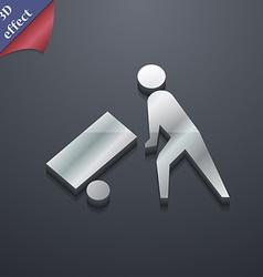 Loader icon symbol 3D style Trendy modern design vector image