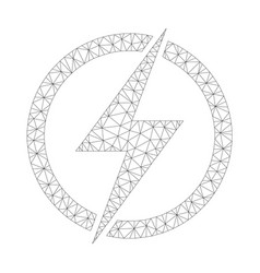 mesh electricity icon vector image