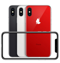 New phone front frame and red white black back vector