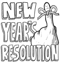 New Years resolution vector