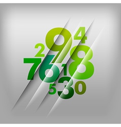 numbers green vector image