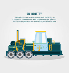 Oil industry with transport vehicles vector