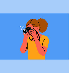 photography hobby occupation shootings vector image