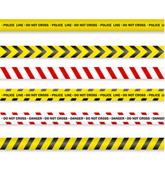 Police line and do not cross danger tapes eps 10 vector
