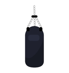 Punching bag training gym icon vector