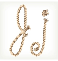 Rope alphabet Letter J vector image vector image