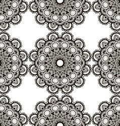 Round henna mehendi drawing mandalas drawn vector