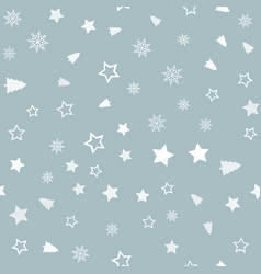 seamless pattern with christmas ornaments vector image