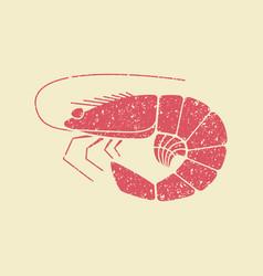 shrimp flat icon vector image