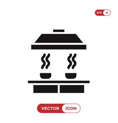 Smoke detector icon vector