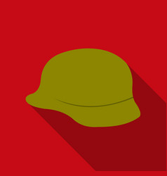 Soldier helmet military icon flate single weapon vector
