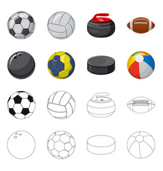 Sport and ball icon set of vector