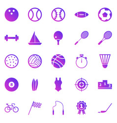 sport gradient icons on white background vector image