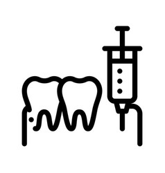 Stomatology anesthesia injection sign icon vector