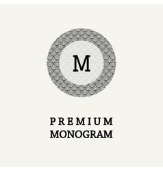 Stylish graceful monogram vector image