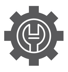 technical support glyph icon maintenance vector image