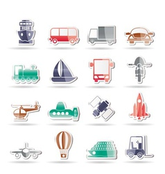 Travel and shipment icons vector