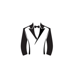 Tuxedo logo template vector