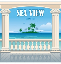 wonderful sea view vector image