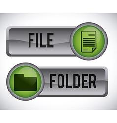 computer button vector image
