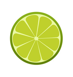 green lime icon citrus refreshing drink vector image