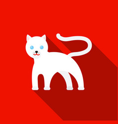 panther icon flat singe animal icon from the big vector image