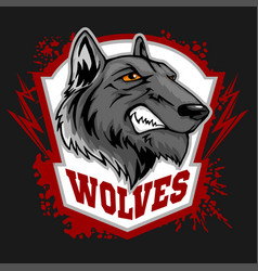 wolves sports mascot howling wolf vector image vector image