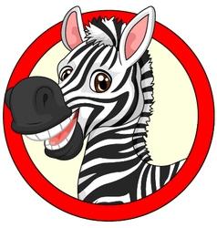 Cute zebra cartoon vector image