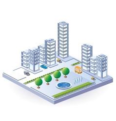 Isometric city vector image