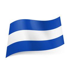 national flag of el salvador central white stripe vector image